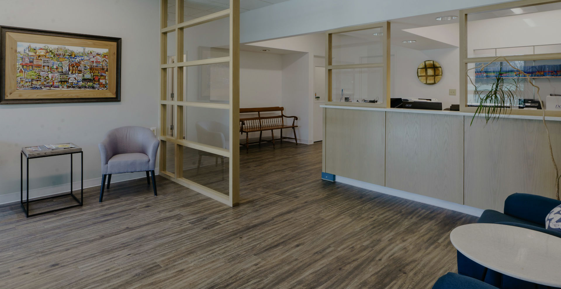Lobby and waiting area at Durham DDS